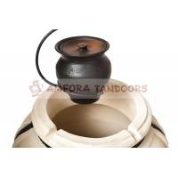Чугунок 2 л керамический с крышкой для пост-томления в остывающем тандыре с эффектом «Русской печи»